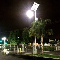 commercial parking lot lighting project