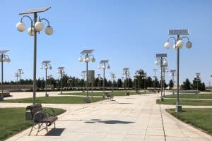commercial solar lighting business